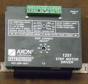 1 Used Axon 1251 Step Motor Driver make Offer