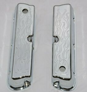 Chrome Aluminum Ford 289 302 351w Valve Covers Flames Fire Flamed Sbf