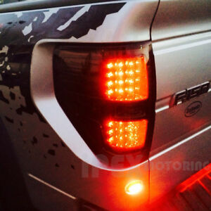 Brightest 2009 2014 Ford F150 Svt Raptor Stx Xlt Fx2 Fx4 Led Tail Light Smoke