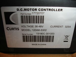 Curtis Dc Motor Controller Model 1204m 5302 P n 17720707 36 48volts 325amp New