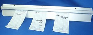 Restaurant Customer Ticket Receipt Holder Rail 48