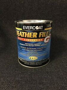Evercoat Feather Fill G2 Polyester Primer Surfacer buff Quart Fib 710