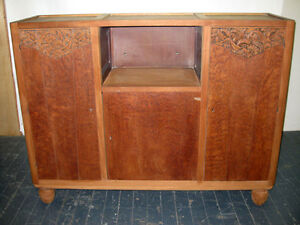 French Art Deco Sideboard Small Buffet Server Credenza Pair Avail