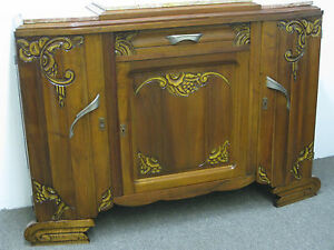 1935 French Art Deco Sideboard Buffet Server Credenza