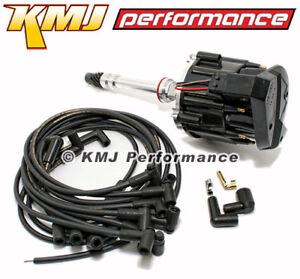 Small Block Sbc Chevy 305 350 400 Hei Distributor Moroso Wires 90 Black Kit