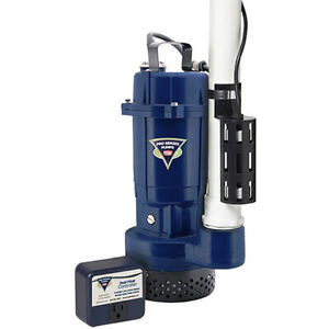 Pro Series St1050 1 2 Hp Cast Iron Submersible Sump Pump W Dual Float Switch