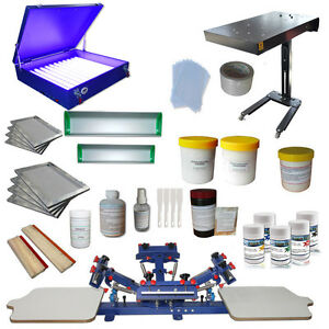 Silk Screen Printing Kit 4 Color Screen Press Printer Exposure
