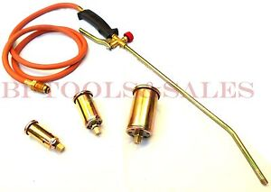 Propane Torch W 3 Nozzles Roofing Torch Ice Melt Weed Burner Fire Starter Torch