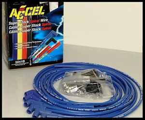 Accel 5000 Series Plug Wires Sbc 350 383 400 Hei Point Dist 5041 B Clearance