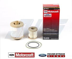 03 07 6 0l Powerstroke Diesel Truck Genuine Ford Motorcraft Oem Fuel Filter Kit