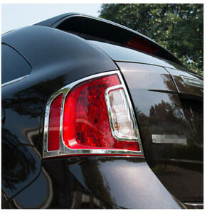 Abs Chrome Rear Tail Light Lamp Cover Trim 2pcs For Ford Edge 2011 2012 2013