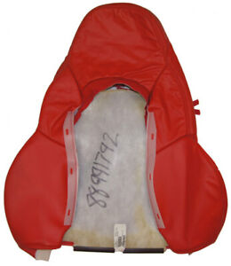 2000 2004 Corvette C5 Red Leather Seat Cover Upper Sport Pass Side New Gm Nos
