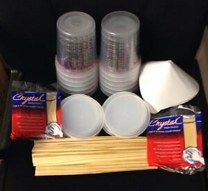 Paint Refinishing Kit Mixing Cups With Lids strainers paint Sticks tack Cloths