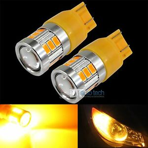 2x 40w 7443 Led Amber Yellow Turn Signal Parking Drl High Power Light Bulbs