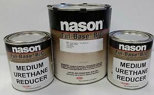 Super Jet Black Dupont Nason Ful Base Clearcoat Auto Body Shop Restoration Paint