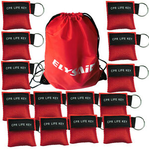 300 Pcs pack Cpr Masks Cpr Face Shield One Way Valve With Keyring Disposable