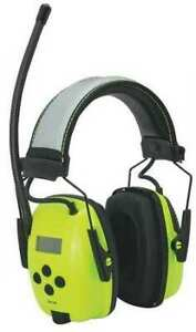 Electronic Ear Muff am fm hi vis 25db Honeywell Howard Leight 1030390