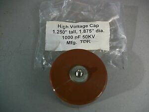 Tdk Uhv 11a High Voltage Ceramic Doorknob Capacitors Iso M5 Thread 1 000 Pf new