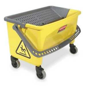 Rubbermaid Fgq90088yel Mop Bucket And Wringer 28 Qt yellow blk