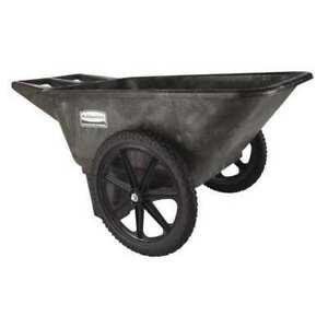Big Wheel Cart hd 1 4 Cu Yd 300 Lb Rubbermaid Fg564200bla