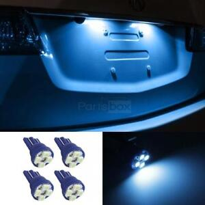 4x Ice Blue T10 4 3528 Smd Led Vehicles Lights For License Plate Bulbs Lamps