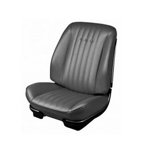 1968 Chevelle Malibu Front Seat Upholstery Covers Black Pui New
