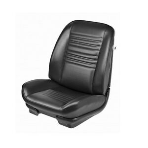 1967 Chevelle Malibu Front Rear Seat Upholstery Covers Black Pui