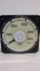 New Unused Yokogawa 0 5250 Vac Panel Mount Voltmeter 103021pzul