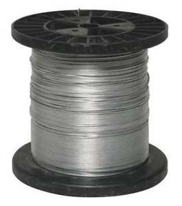Electric Fence Wire 17 Ga 1320 Ft steel Zoro Select 4lvr1