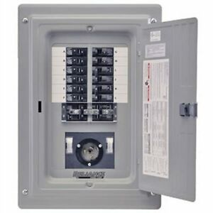 Reliance Controls 100 amp Prewired Indoor Transfer Panel W 50 amp Inlet