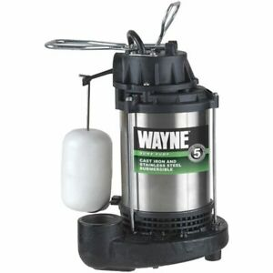 Wayne Cdu1000 1 Hp Stainless Steel Cast Iron Submersible Sump Pump W Verti