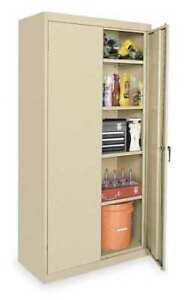 Storage Cabinet sand 72 In H 36 In W Zoro Select 1uez5