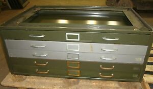 5 Drawer Blueprint Stackable Cabinet Green W Tan Back W o Top A6 18586lr