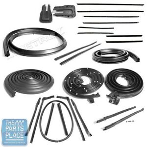1965 Chevrolet Impala Convertible Weatherstrip Seal Deluxe Kit