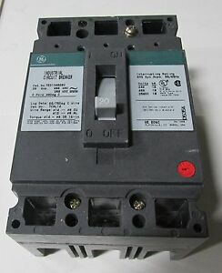 General Electric Circuit Breaker Cat Ted134020v 3 Phase 20 Amp B7 70930isu