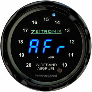 Zeitronix Zr 1 Air Fuel Ratio Gauge For Wideband Black Blue Led