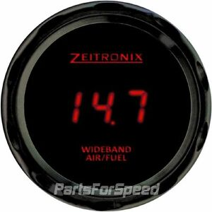 Zeitronix Zt 3 Wideband Oxygen Sensor Kit Lsu 4 9 Afr Zr 3 Black Gauge Red Led
