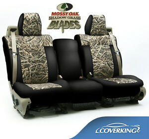New Mossy Oak Shadow Grass Blades Camouflage Seat Covers Black Sides 5102007 03