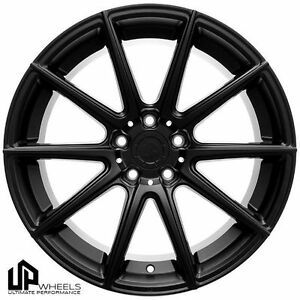 19 Ultimate Performance Up100 Matte Black Concave Wheels Set Fits Audi Vw A4 Cc