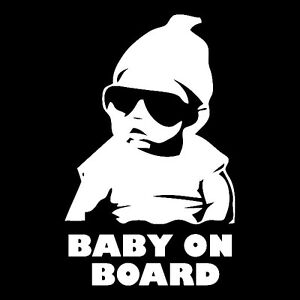 Baby On Board Carlos Funny Hangover Car Truck Window Sticker Vinyl Decal 056