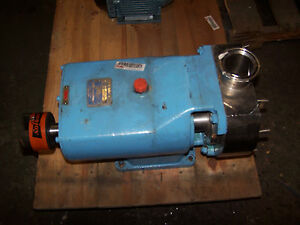 New G H 2 1 2 Ss Sanitary Rotary Lobe Positive Displacement Pump 632p