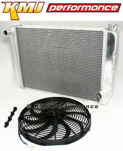 High Performance 28 X 19 Universal Aluminum Radiator 16 Electric Fan Combo