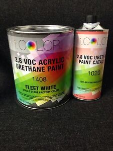 Fleet White Gallon Kit Single Stage Acrylic Urethane Auto Paint Kit