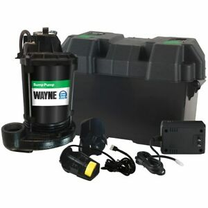 Wayne Esp25 Battery Backup Sump Pump 1500 Gph 10