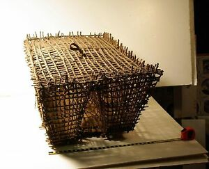 Native American Basket Large Fish Trap Possibly Hawaiian