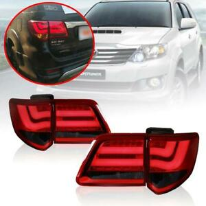 Fit 2012 15 Toyota Fortuner Tail Light Rear Lamp Smoke Bmw Style Led Bar