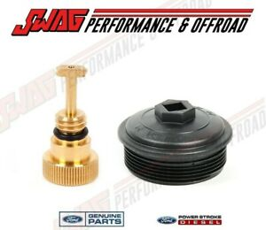 03 07 6 0l Powerstroke Diesel Ford Oem Fuel Filter Cap Updated Hfcm Water Drain