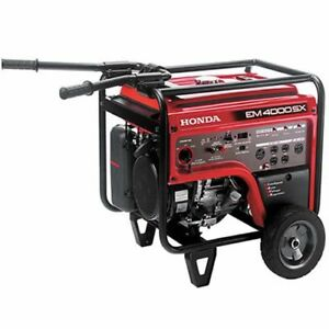 Honda Em4000 3500 Watt Portable Generator With Electric Start