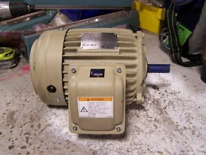 New Ge 2 Hp Electric Ac Motor 230 460 Vac 1730 Rpm 145t Frame 3 Phase