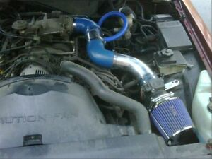 Ram Air Intake Kit Blue Dry Filter For Ford 96 02 Crown Victoria 4 6l V8